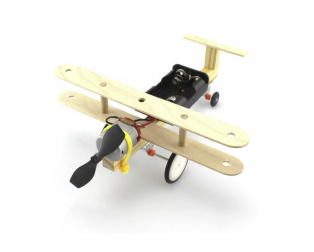 DIY Educational Toy Kit Single Propeller Glider Plane
