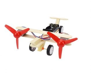 DIY Educational Toy Set Double Winged Glide Plane