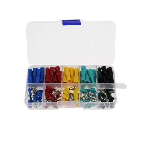 Insulated 5 Colour Wire Crimp Terminal Male-Female Connector