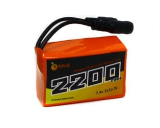 Orange 18650 Li-ion 2200mAh 7.4v 2S1P Protected Battery Pack-2c