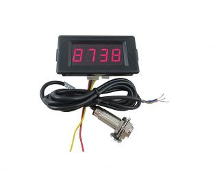 LED Red Display Indicators Tachometer+Hall Proximity Switch Sensor NPN