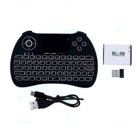 2.4G Wireless Mini Touch Keyboard with Colorful Backlight for Raspberry PI 4B3B3B+