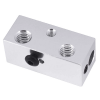 Double Heater Block 2 in 1 out Multi Color For Extrusion 3D Printers Parts Aluminum 1.75mm