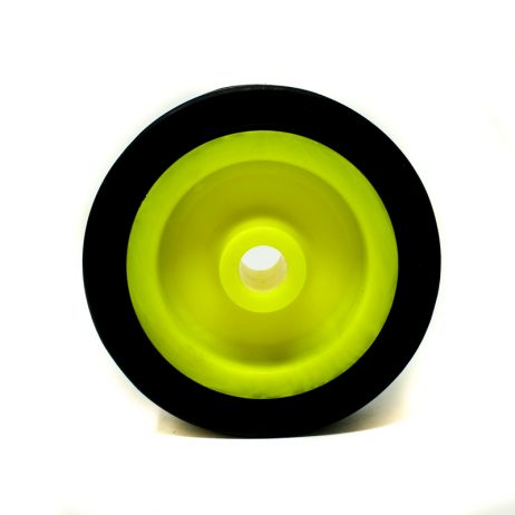 EasyMech Heavy Duty(HD) Disc Wheel 100x32mm – 1Pcs. (Yellow Color)