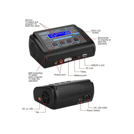 HTRC C150 150W 10A LiPo LiFe NiMh Battery ChargerDischarger