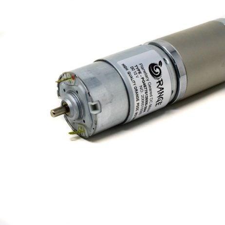 Orange Planetary Gear DC Motor 12V 18 RPM 882.9 N-cm PGM45775-264K