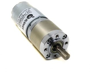 Orange Planetary Gear DC Motor 12V 370 RPM 100 N-cm PGM45775-19.2K