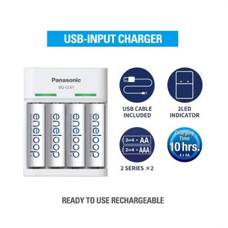 PANASONIC BQ - CC61N Eneloop Battery Charger