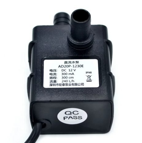 Ultra-Quiet DC 12V 3M 240L/H Brushless Submersible Water Pump