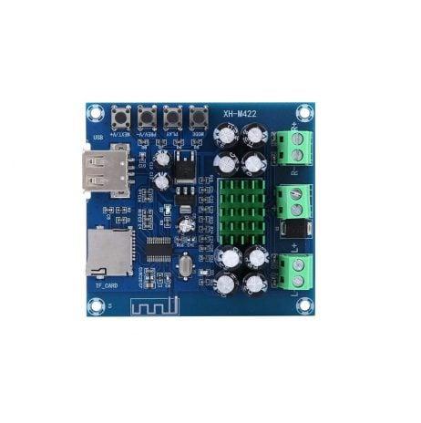 XH-M422 TPA3116D2 Bluetooth Amplifier Board U disk TF Player Amp Boards Dual Channels 2*50W DC12V-24V