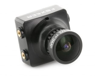 Foxeer HS1190 Arrow 2.8mm 600TVL CCD OSD NTSC/PAL IR Block/IR Sensitive FPV Camera w/ Bracket Black PAL