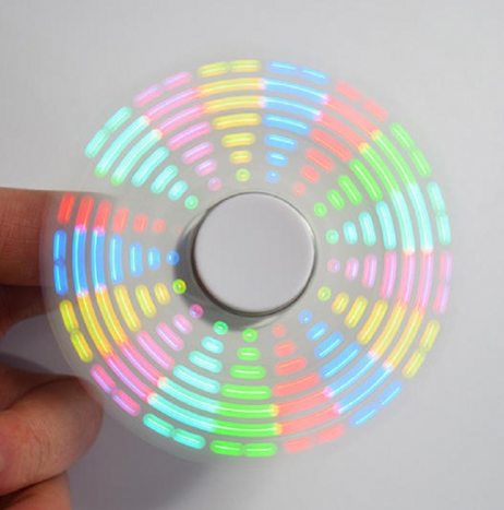 DIY Round Triangle LED POV Rotation Hand Spinner SMD Learning Kit