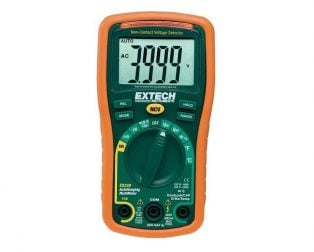Extech EX330 12 Function Mini MultiMeter + Non-Contact Voltage Detector