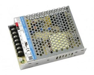LM75-10D0524-20 Mornsun SMPS - (5V 5A) and (24V 2A) - 73W ACDC Enclosed Switching Dual Output Power Supply