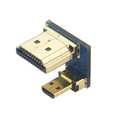 Micro HDMI Male to HDMI Male Adapter for PI4