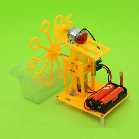 New DIY Science Toy Electric Bubble Machine for Kids(Without Battery)