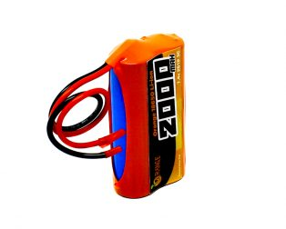 Orange 18650 Li-ion 2000mAh 7.4v 2S1P Protected Battery Pack-3c