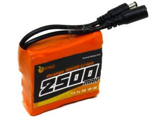 Orange 18650 Li-ion 2500mAh 11.1v 3S1P Protected Battery Pack-3c