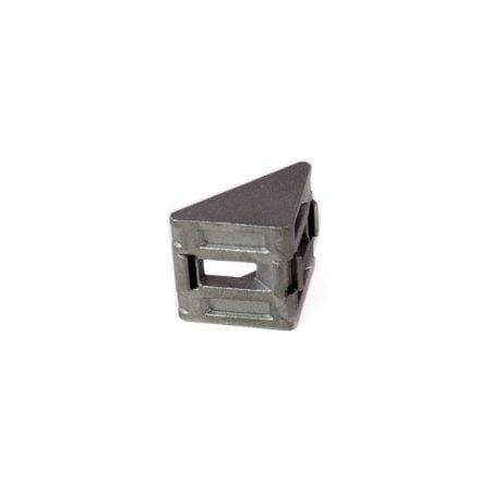 EasyMech Cast Corner Bracket for 20X20 Aluminium Profile (Silver) - 4 Pcs