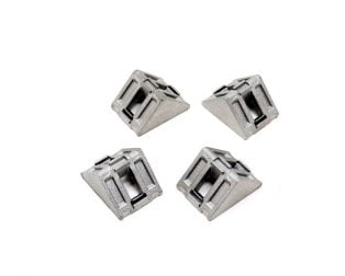 EasyMech Cast Corner Bracket for 20X20 Aluminium Profile (Silver) - 4 Pcs