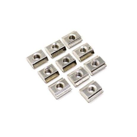 T Type M4 MS Nut For 20X20 Aluminium Profile - 10 Pcs
