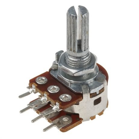 100kΩ 0.2W 6 Pin 2 Gang Rotary Carbon Potentiometer