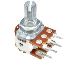 10kΩ 0.2W 6 Pin 2 Gang Rotary Carbon Potentiometer (15mm)