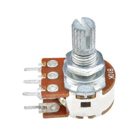 10kΩ 0.2W 6 Pin 2 Gang Rotary Carbon Potentiometer (15mm)
