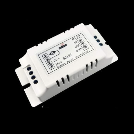 12V DC Wireless Motor Control Switch with 433MHz Keychain Remote with Forward, Reverse and Stop button