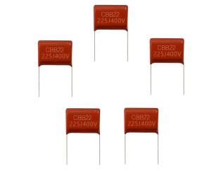 2.2uF, 400V, Through-Hole DIP Polyester Film Capacitor