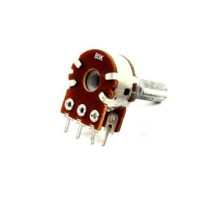 5kΩ 0.4W 6 Pin 2 Gang Rotary Carbon Potentiometer