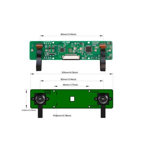 Arducam 2MP Stereo Camera for Raspberry Pi, Nvidia Jetson NanoXavier NX, Dual OV2311 Monochrome Global Shutter Camera Module