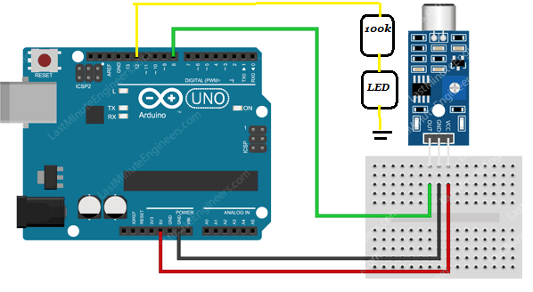 Interfacing of sound sensor with arduino uno