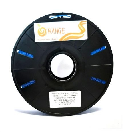 Orange PETG 1.75mm 3D Printing Filament 1kg-Blue