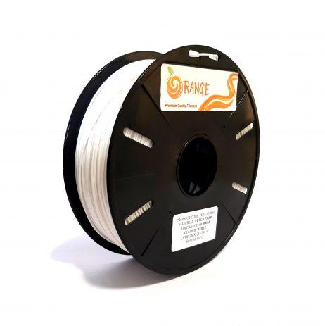 Orange PETG 1.75mm 3D Printing Filament 1kg-White