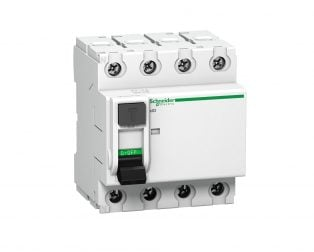 Schneider 4P 40A Acti9 Residual Over Current protection AC Circuit Breaker (RCCB) MCB