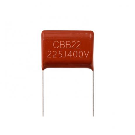 2.2uF, 400V, Through-Hole DIP Polyester Film Capacitor