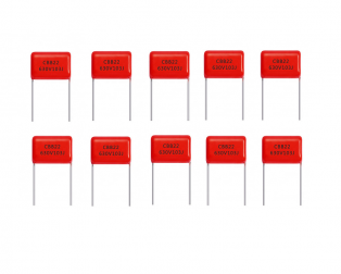 10nF 630V through hole DIP polyester film capacitor