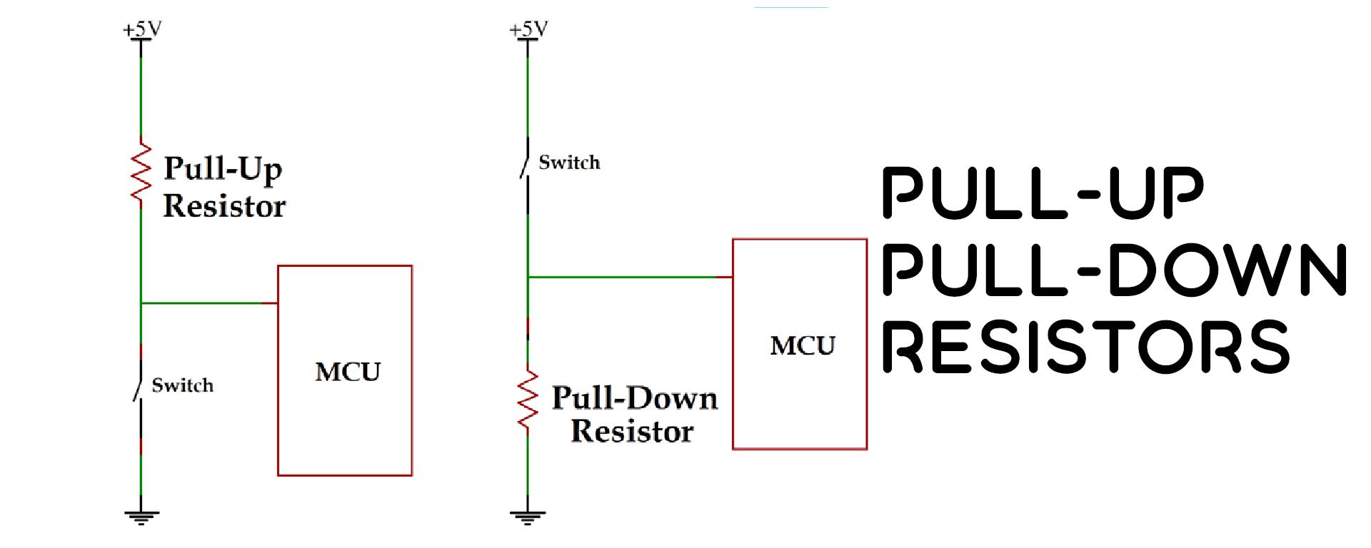 pull up pull down resistors