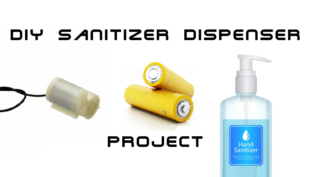 diy sanitizer dispenser project