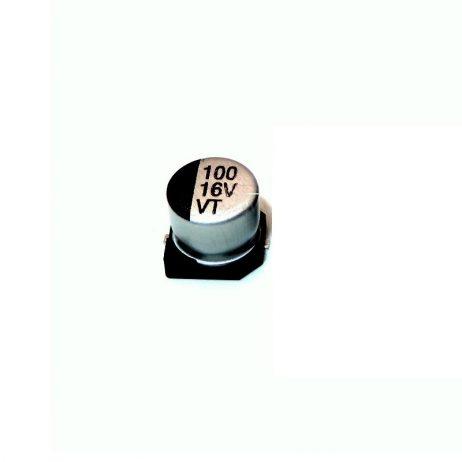 100uF 16V (SMD) Dc polymer aluminium capacitor (Pack of 20)
