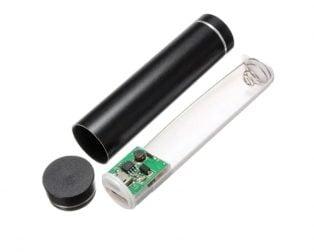 5V USB Aluminium Body Power Bank Case for 18650 Battery-BLACK