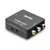 HDMI to AV Adapter HD Video Converter Box ScalerHDmi to RCA AV CVSB L R Video 1080P HDMI2AV Support NTSC PAL BLACK