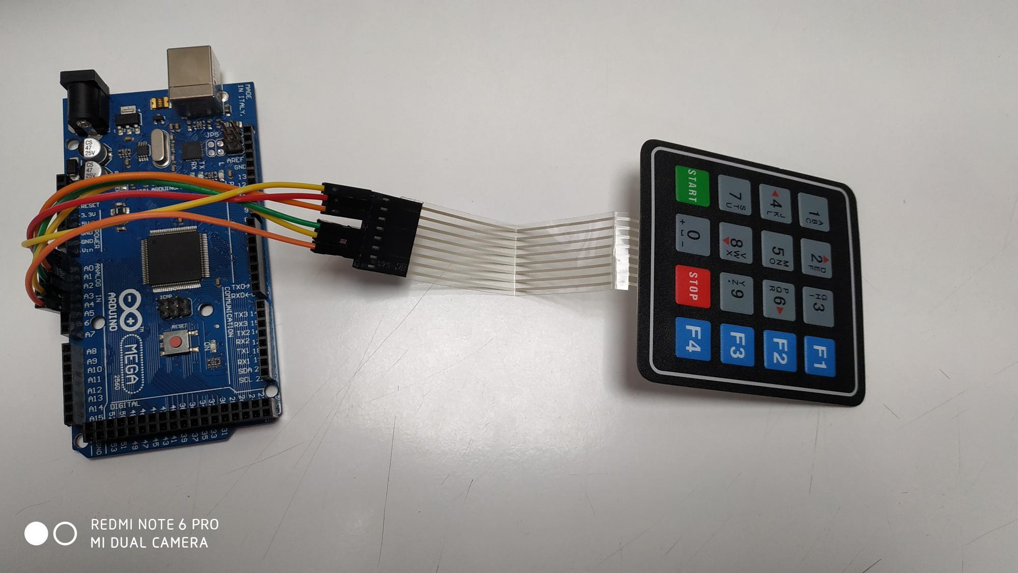 Connection of Keypad with arduino Mega