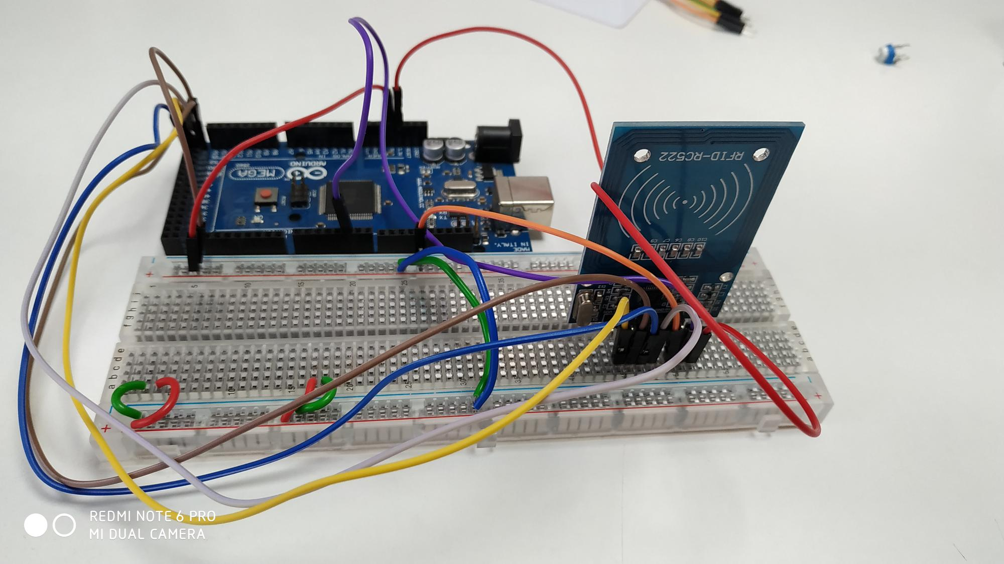 Connection of RFID sensor with arduino Mega