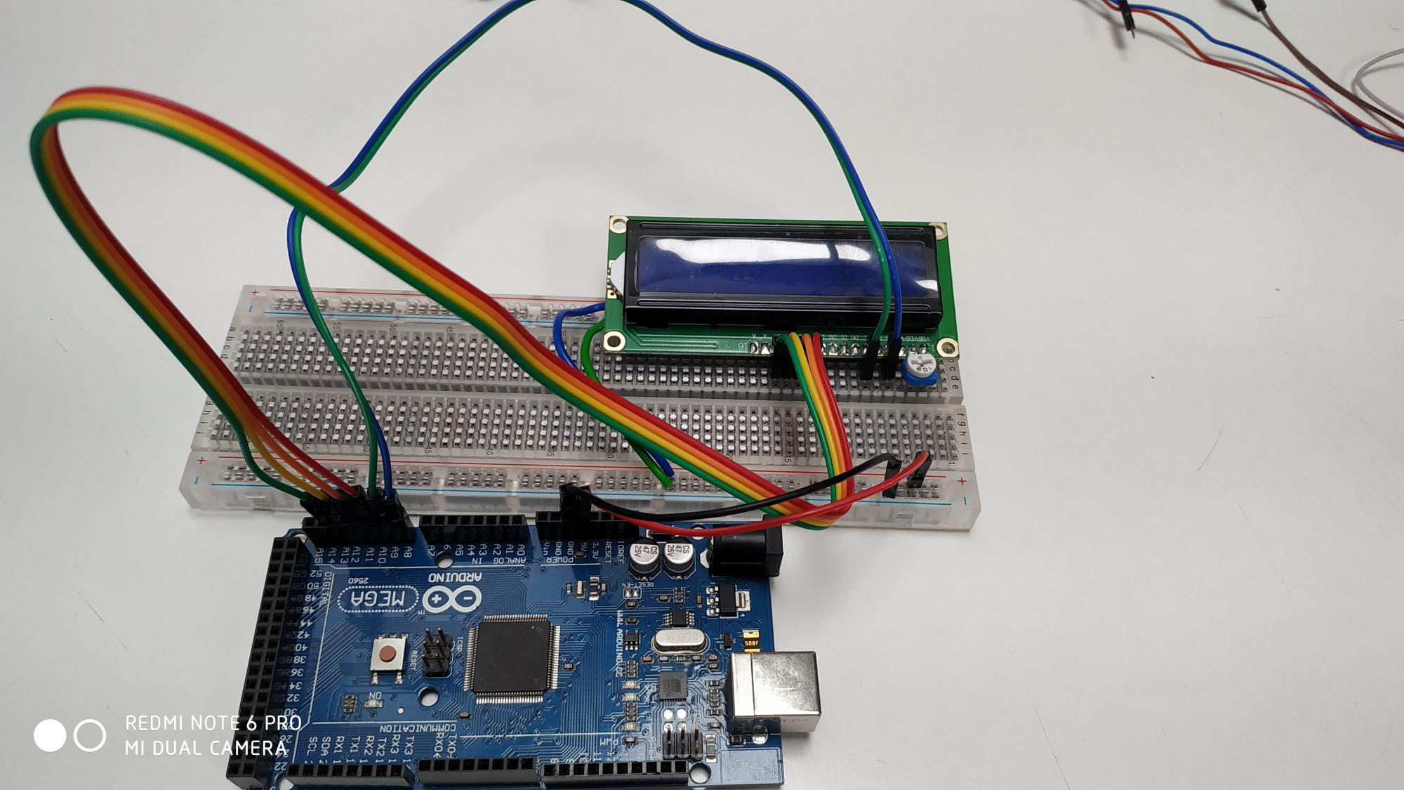 Connection of LCD  with arduino Mega