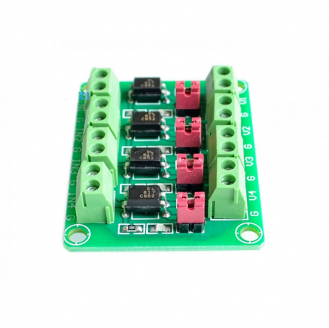 PC817 4 CH Optocoupler Isolation Module