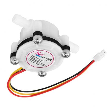 Water Flow Sensor (Sea) YFS401 Flowmeter 0.3-6Lmin3.5mm White