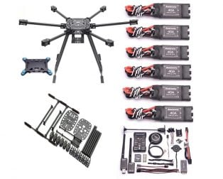 Z850mm Full Carbon Fiber 850mm Hexa-Rotor Frame Combo Kit