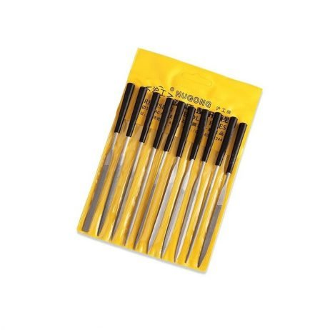 Hugong 10 pcs Precision Needle File Set